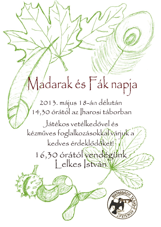 madarak es fak 2013 plakat